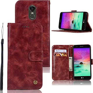 LG Stylo 3 Case, LG Stylo 3 Plus Case, Zoeirc Hybrid PU Leather Drop Protection Folding Folio Style Wallet Slots to Hold Cards Stand Pouch Flip Case For LG Stylo 3/LG Stylo 3 Plus (Burgundy)