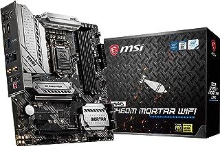 لوحة ام اس اي MAG B460M Mortar Wifi Gaming (mATX، الجيل العاشر انتل كور،LGA 1200 مقبس DDR4، CFX، فتحات ثنائية M.2، USB 3.2...