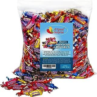 Caramel Candy - Brachs Milkmaid Royals - Brach's Milk Maid Caramels, 3 LB Bulk Candy