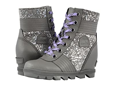 SOREL Kids Lexitm Wedge (Little Kid/Big Kid) (Quarry/Paisly Purple) Girls Shoes