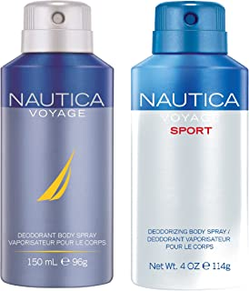 Nautica Deo Combo Set, Voyage, Voyage Sport, 150ml (Pack of 2)