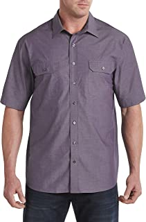 Synrgy by DXL Big and Tall Double-Pocket Sport Shirt, Zinfandel, 3XL