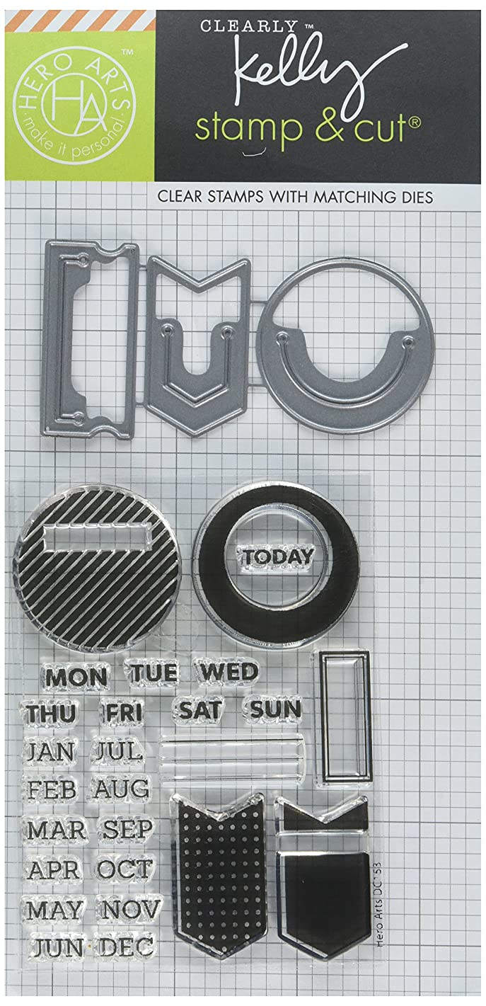 Hero Arts Kelly's Planner Clips & Cuts Clear Stamp Set with Coordinating Dies