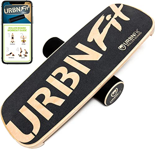 new arrival URBNFit Wooden Balance high quality Board Trainer - Wobble Board for 2021 Surf, Hockey, & Snowboard - Balancing Board to Sculpt & Build Core Stability - Exercise Equipment w/ Workout Guide outlet online sale