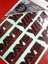 Te37 Volk Racing Decal Sticker - Black