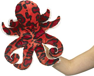 "Eco Pals Octopus Puppet by Wildlife Artists, Stuffed Animal Plush Toy Puppet 14"", Eco-Friendly, Embroidered Eyes and Nose..."