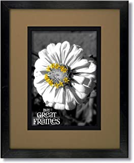 One 16x20 Black Wood Frame and Glass with Tumbleweed/Black Black Core Double Mat for 11x14.