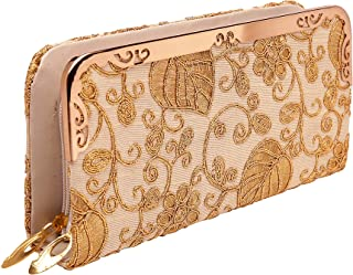 Lonika Collections Double Zipper Long Clutch Wallet Cellphone Wallet for Women for Card, Cash, Coin