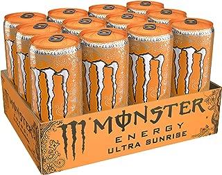 Monster Energy Ultra Sunrise, Sugar Free Energy Drink, 10.5 Ounce (Pack of 12)