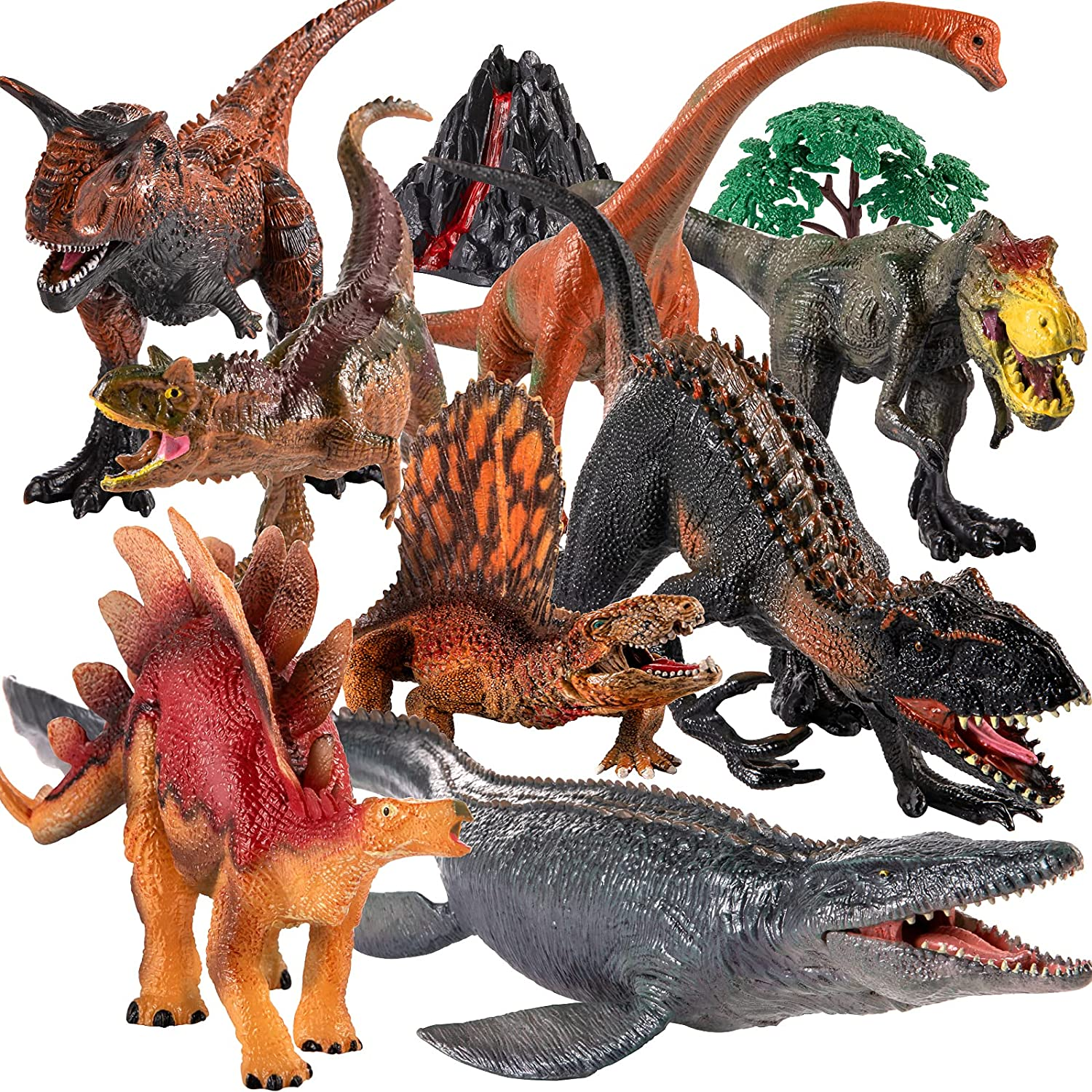 8 Pcs Large Dinosaurs Toy for Toddlers Jumbo Dinosaur Toys for Kids 3 5 , Dinosaur Big Toys Realistic Looking Giant Dinosaur Toys Figure Set , Toddlers and Dinosaur Lovers, Birthday Party Favor Toys