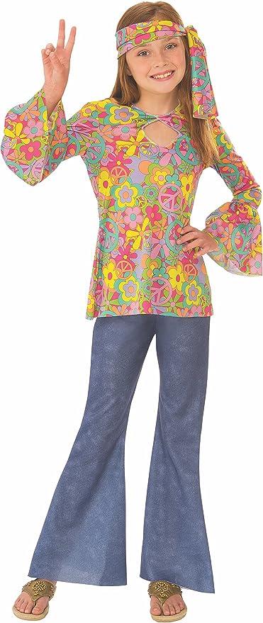 60s 70s Kids Costumes & Clothing Girls & Boys Rubies Kids Flower Child Costume  AT vintagedancer.com