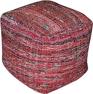 fabric pouf