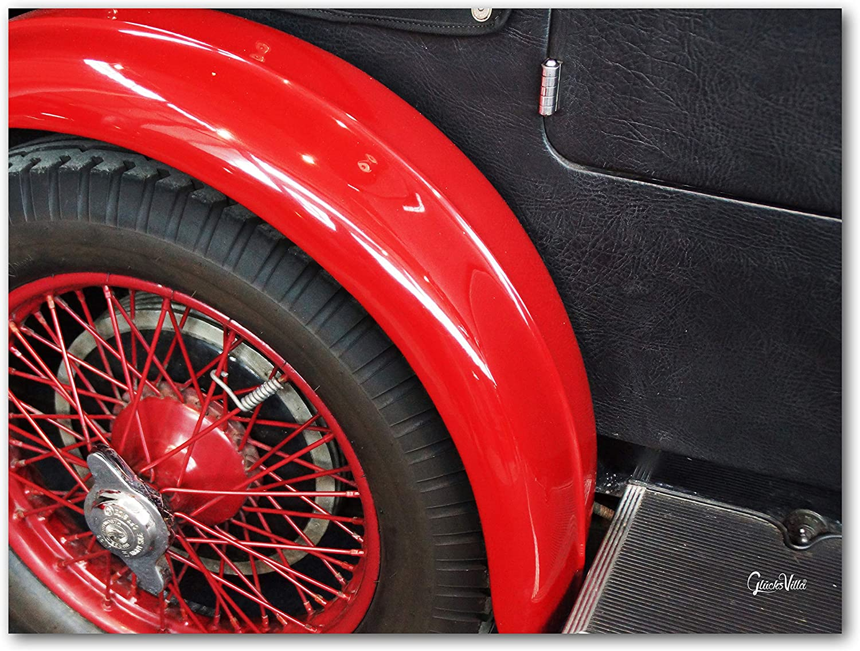 Glücksvilla Oldtimer 13 - Exklusives Künstlermotiv, XXL Bild Wandbild, Wandbild, Wandbild, Größe  120 x 90 cm Quer-Format, Digital-Druck auf Acrylglas 5 mm, Auto Fahrzeug Rad Reifen B07GFG1QCW 8c4f75