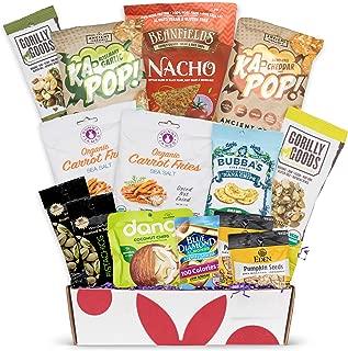 Gluten Free Vegan Chip Box: Variety of Healthy Sweet & Savory Chips – Nuts - Seeds - Fruit Stix - Healthy Vegan Gluten Free Christmas Baskets