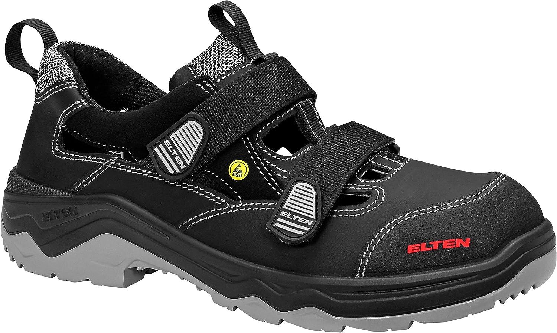 ELTEN Sicherheitssandale Laslo ESD S1p, Unisex Adults' Safety shoes, Black (black 1), 10.5 UK (45 EU)