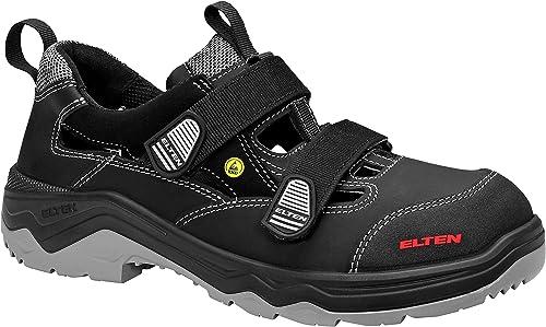 ELTEN Sicherheitssandale Laslo ESD S1p, Chaussures de sécurité Mixte Mixte Mixte Adulte, Noir (noir 1), 47 EU 8b3