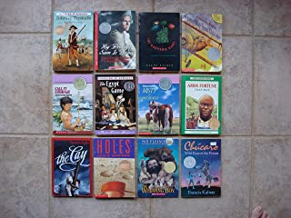 Set of 12 Newbery Medal/Honor Books (Call It Courage ~ The Cay ~ Holes ~ The Whipping Boy ~ A Long Way From Chicago ~ The Westing Game ~ Johnny Tremain ~ My Brother Sam Is Dead ~ Misty of Chincoteague ~ Amos Fortune ~ Chucaro ~ The Egypt Game)
