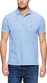 Tommy Hilifiger Men's Oxford Print Regular Polo