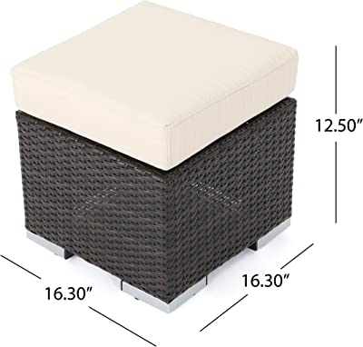 Amazon.com: CorLiving PCL-200-P Brisbane Patio Ottoman, gris ...