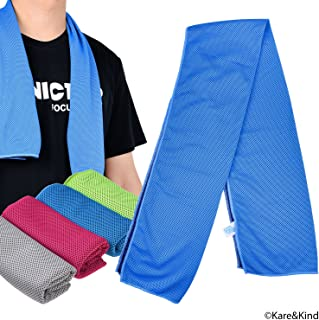 Kare & Kind 4 Pack Evaporative Cooling Towel, 12x40 inch chill pat for Sports, Workout, Fitness, Gym,