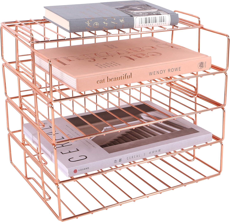 Hosaken Paper Super sale period limited Tray 4 Tier Decorative Des Letter Stackable Great interest