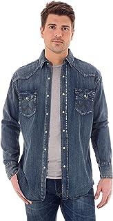 قميص Wrangler Western رجالي بأكمام طويلة بكبسولات من القطن المغسول