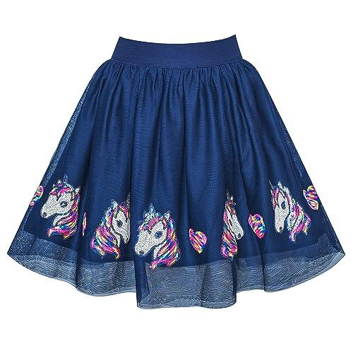 Sunny Fashion Filles Jupe Bleu Cœur Paillettes Pétillant Tutu Danse 2-12 Ans 56f9a0bb26a