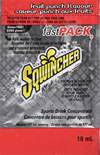 Sqwincher Fast Pack Liquid Concentrate Electrolyte Replacement Beverage Mix, Fruit Punch 015305-FP (Pack of 200)