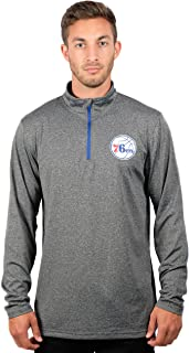 UNK NBA Men's Quarter Zip Pullover Shirt Athletic Quick Dry Tee, Charcoal