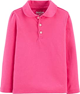 OshKosh B'Gosh Girls Long Sleeve Uniform Polo Shirt Long Sleeve Polo Shirt