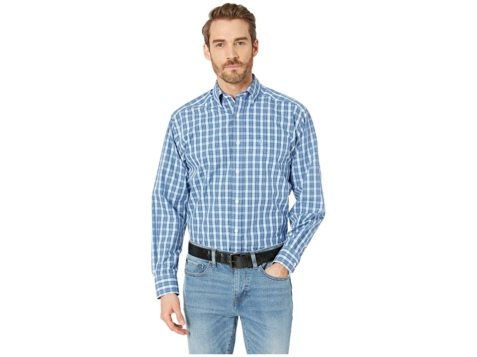 Ariat Wrinkle Free Kadric Shirt (Royal) Men