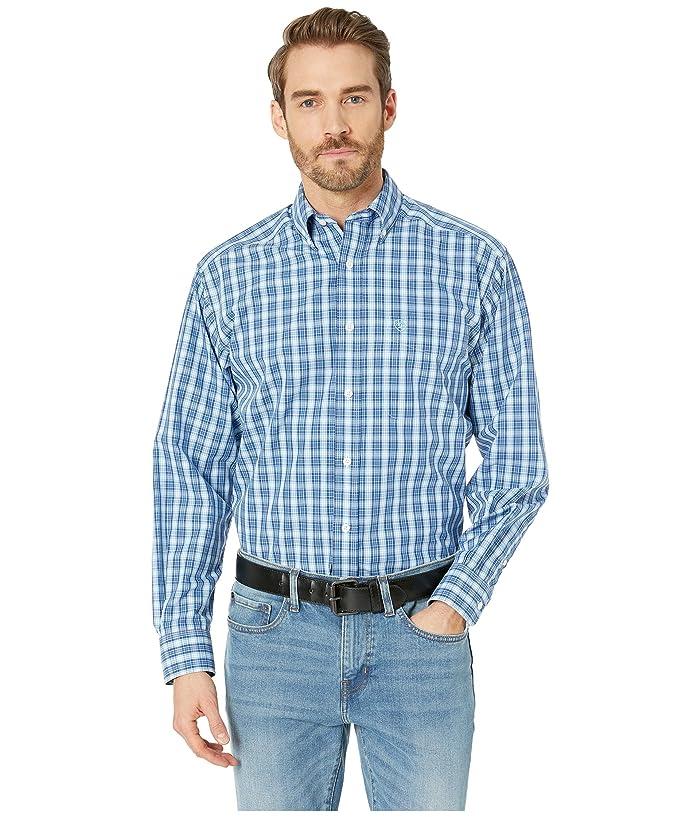 Ariat Wrinkle Free Kadric Shirt (Royal) Men