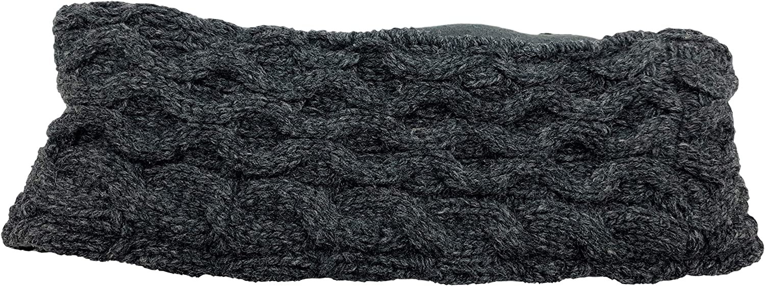 Jack & Mary Designs Fleece Lined Knit Womens Headband Recycled Wool Sweaters