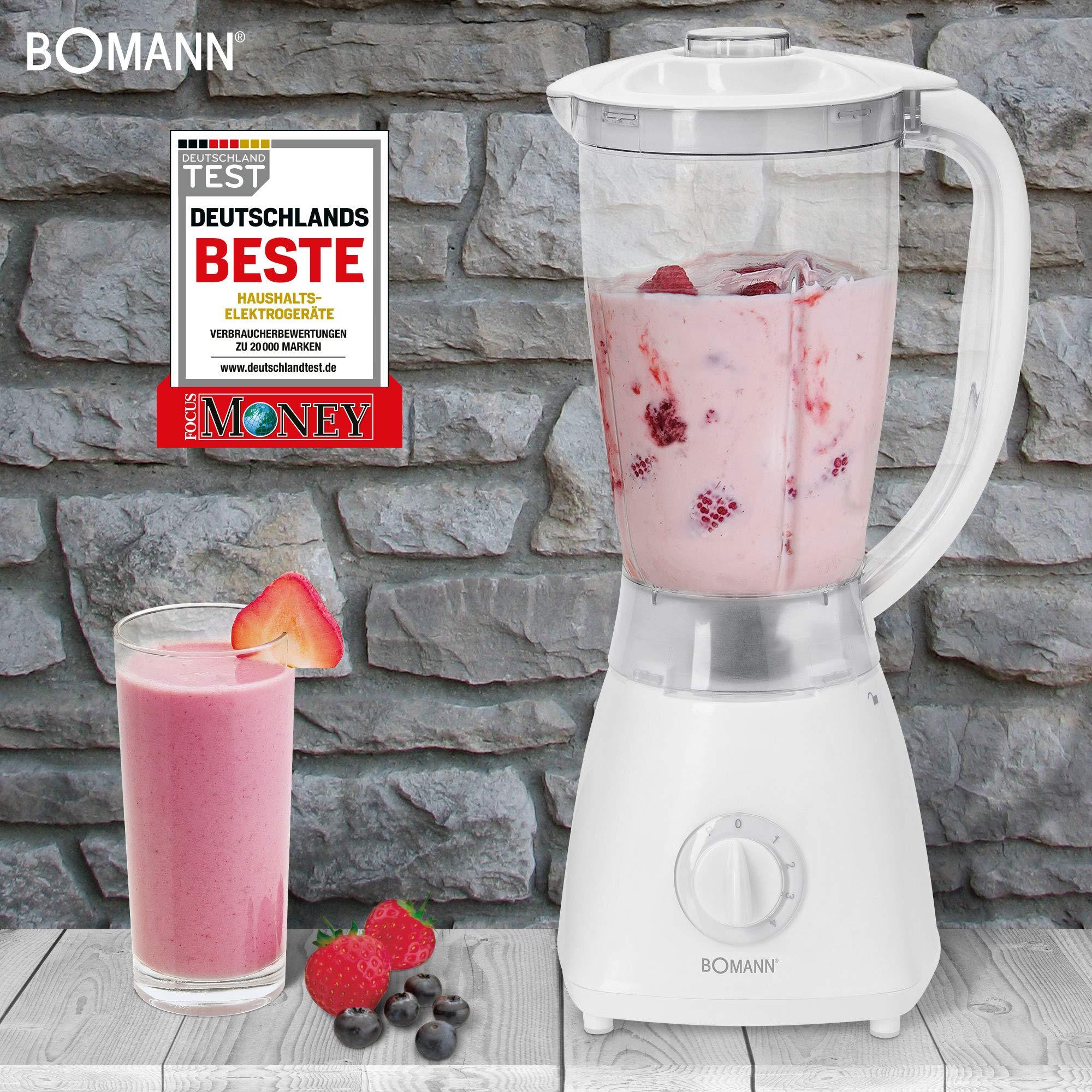 Bomann UM 378 CB-Batidora (Transparente, Color Blanco, Acero ...