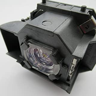 Supermait EP33 プロジェクター交換用ランプ 汎用バルブ + 汎用ハウジング EMP-TW20 EMP-TWD1 EMP-S3 EMP-TWD3 EMP-TW20H EMP-S3L Home 20 MovieMate 25 Movi...
