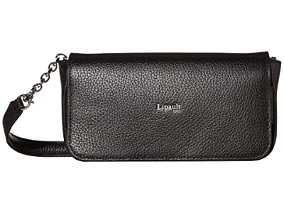 Lipault Paris Invitation Clutch Bag (Black) Bags