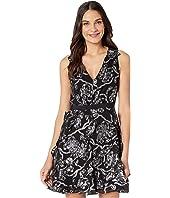 Sleeveless Lurex Clip Dress