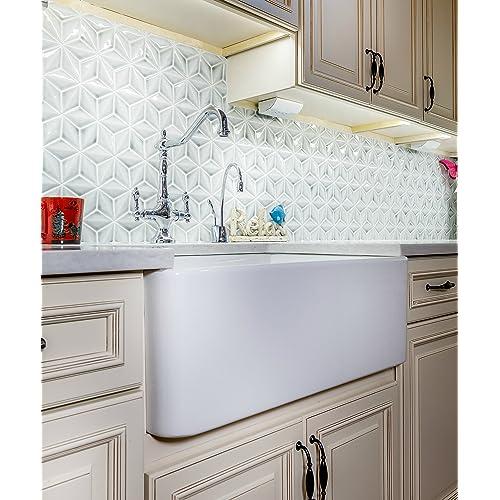 White Farmhouse Sink Amazon Com