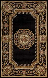 Momeni Rugs HARMOHA-12BLK2030 Harmony Collection, Traditional Area Rug, 2' x 3', Black
