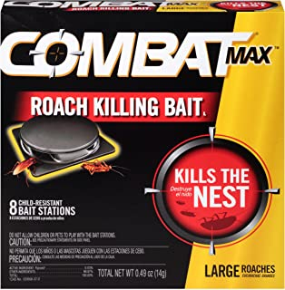 Combat 10023400519139 799331194884 Roach Bait, 8 Count (Pack of 1), Black