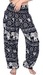 f0b62f73b147 Boho Vib Women s Rayon Elephant Print Boho Harem Yoga Pants