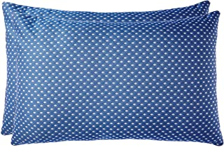 Amazon Brand - Solimo 2-Piece Bed Pillow Set, Blue and White, 43 x 69 cm