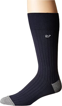 Vineyard Vines Solid Color Block Sock