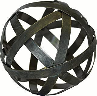 Urban Legacy Metal Ball Sphere Decorative,(Coffee Table, Accent, Bowl) (6 inch)