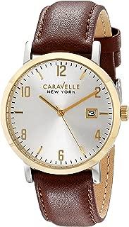 Caravelle New York Men's 44B108 Analog Display Analog Quartz Brown Watch