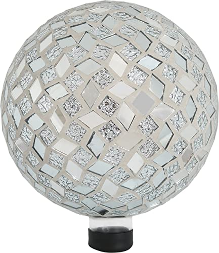 new arrival Sunnydaze Mirrored Diamond Mosaic sale Gazing Globe Glass Garden Ball, Outdoor Lawn sale and Yard Ornament, 10-Inch outlet sale