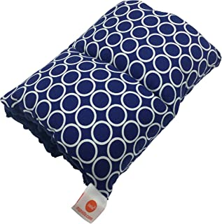 Pello Comfy Cradle Nursing Arm Pillow, Breastfeeding and Bottle Feeding Head Support Pillow, Portable and Washable, Reversible Nursing Pillow for Newborn, Nathan/Navy