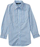 Polo Ralph Lauren Kids Yarn-Dyed Cotton Poplin Stripe Tunic (Toddler)