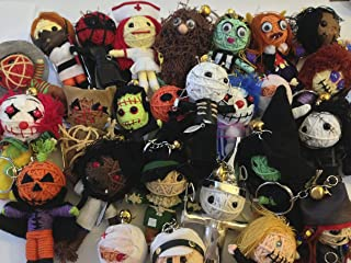 String Doll World - 10 x Random Selection of Voodoo String Doll Keychains