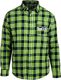 Seattle Seahawks Wordmark Basic Flannel Shirt Medium